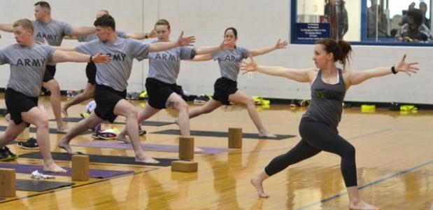 yoga, defensie, leger, sport