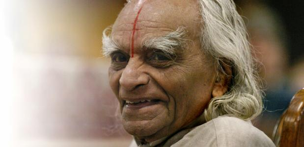 B.K.S. Iyengar in 2005. Foto door Lyn Alweis.