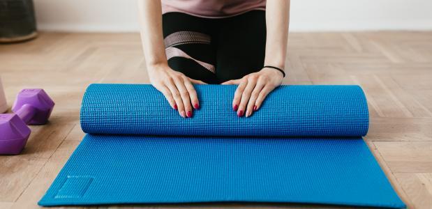Het gebruik van een yogariem