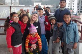 Natasja Bijl in Kathmandu