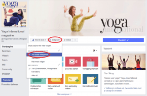 Like de Facebookpagina van Yoga International