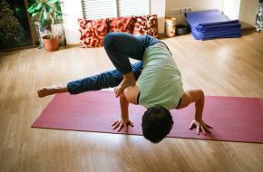yoga in huis studio DIY gezellig