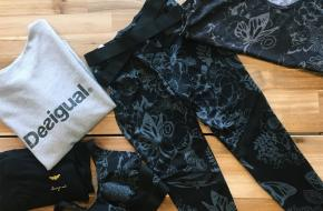 win actie yoga international disigual outfit