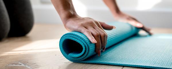 yoga mat schoon wassen